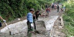 Laksanakan TMMD, Yonmarhanlan VI Makassar Kirim Pasukan Ke Kabupaten Enrekang