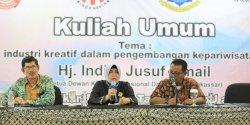 Beri Kuliah Umum Di Poltekpar Makassar, Indira Jusuf Ismail Ajak Kembangkan Potensi Daerah