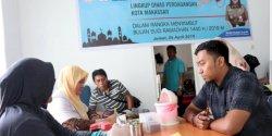 Disdag Makassar Kerja Sama Dinas Kesehatan Provinsi Sul-Sel Gelar Aksi Sosial Jelang Ramadhan