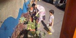 Kompak, Warga Kelurahan Bontoala Tetap Semangat Benahi Lorong Garden Saat Puasa