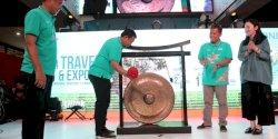 Iqbal Suhaeb Pukul Gong, BNI Travel Fair  2019 Resmi Ditutup
