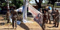Satpol PP Kecamatan Biringkanaya Kembali Tertipkan Baliho