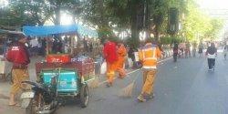 Giat Satgas Kebersihan Sterilkan Sampah Usai Car Free Day