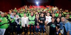 "Gojek Makassar Nonton Bareng Gubernur Sulsel Film Karya Lokal ""Ati Raja"""