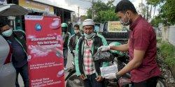 Satu Hati Berbagi, Astra Motor Makassar Beri Bantuan ke Driver Ojol