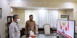 Harlah Pancasila, Pj Walikota Makassar Vidcon Bersama Presiden RI