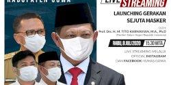 Mendagri Launching Gerakan Sejuta Masker Pemkab Gowa Sore Ini