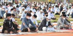 Mentan SYL Salat Idul Adha di Gowa