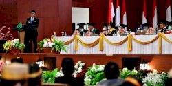 Hadiri Dies Natalis UINAM, Gubernur Paparkan Pertumbuhan Ekonomi Sulsel