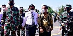 Bersama Menkopolhukam, Plt Gubernur Sulsel Saksikan Simulasi Force Down Pesawat Asing