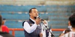 Semangati Atlet Sulsel untuk PON XX Papua, Plt Gubernur Sulsel Tak Mau Janjikan Bonus